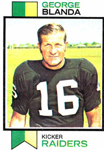 1973 Topps George Blanda Oakland Raiders - JM Collectibles
