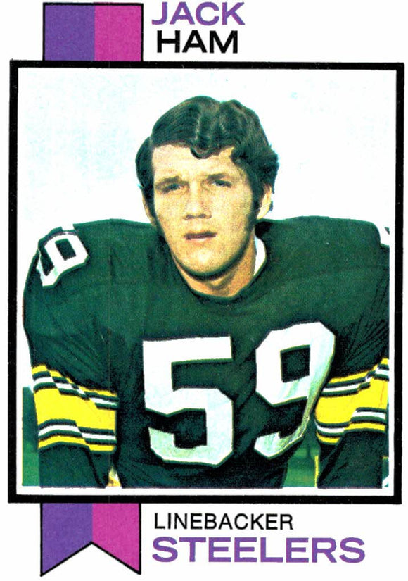 1973 Topps Jack Ham Pittsburgh Steelers - JM Collectibles
