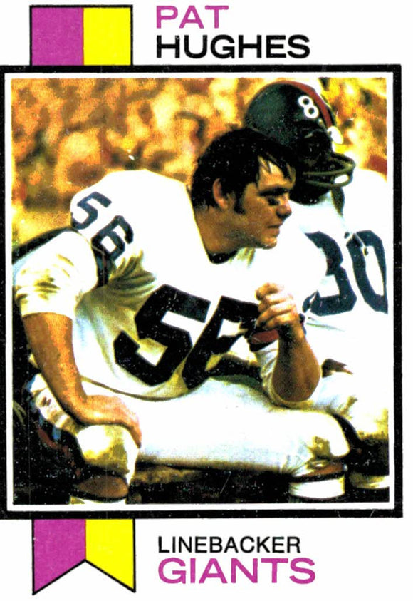 1973 Topps Pat Hughes New York Giants - JM Collectibles