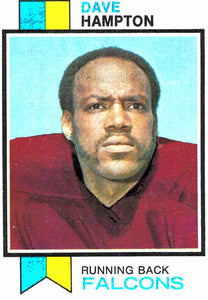 1973 Topps Dave Hampton Atlanta Falcons - JM Collectibles