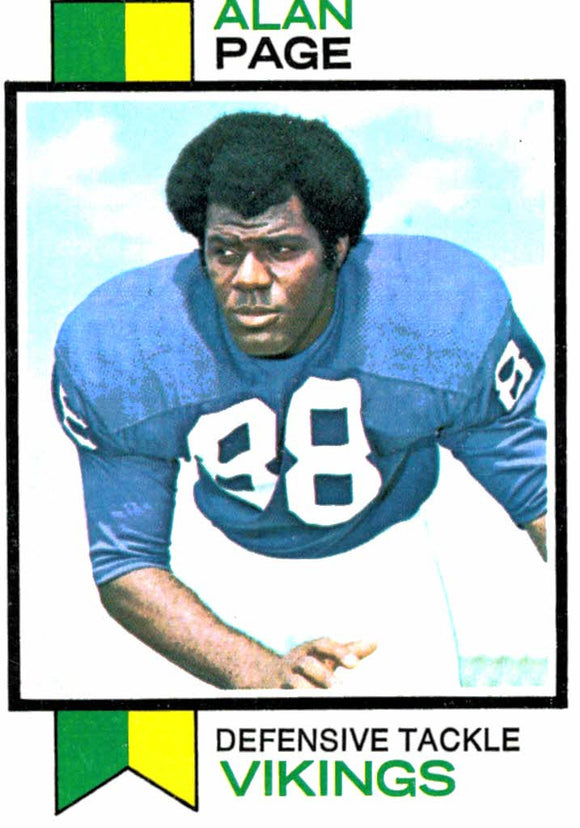 1973 Topps Alan Page Minnesota Vikings - JM Collectibles