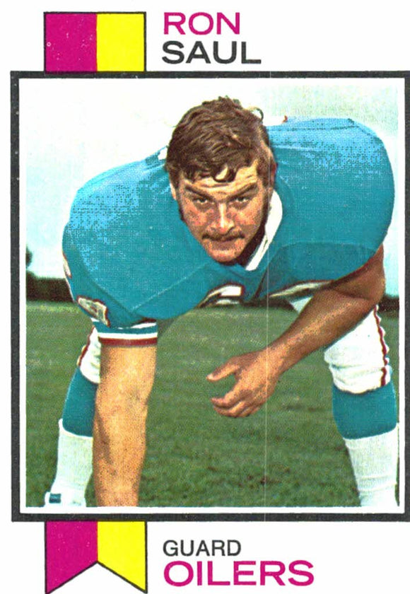 1973 Topps Ron Saul Houston Oilers - JM Collectibles