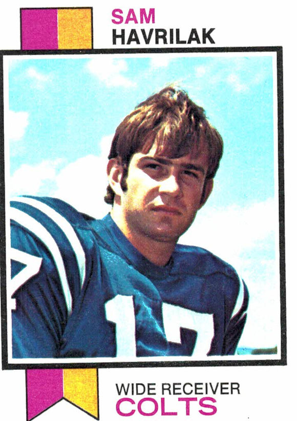 1973 Topps Sam Havrilak Baltimore Colts - JM Collectibles