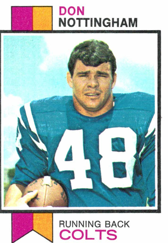 1973 Topps Don Nottingham Baltimore Colts - JM Collectibles
