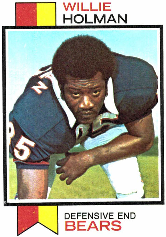 1973 Topps Willie Holman Chicago Bears - JM Collectibles