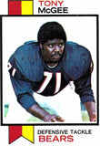 1973 Topps Tony McGee Chicago Bears - JM Collectibles