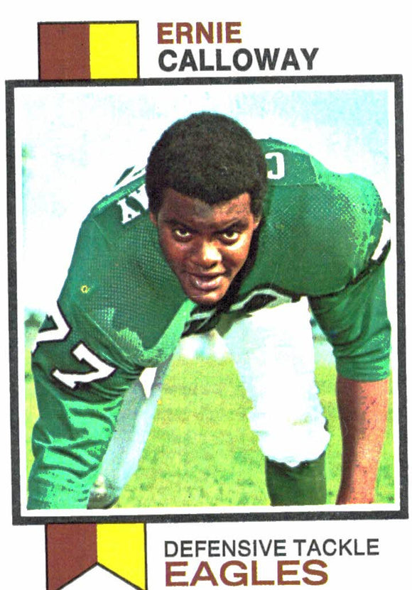 1973 Topps Ernie Callloway Philadelphia Eagles - JM Collectibles