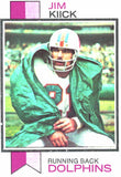 1973 Topps Jim Kiick Miami Dolphins - JM Collectibles