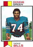 1973 Topps Donnie Green Buffalo Bills - JM Collectibles