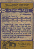 1979 Topps Ken MacAfee San Francisco 49ers - JM Collectibles