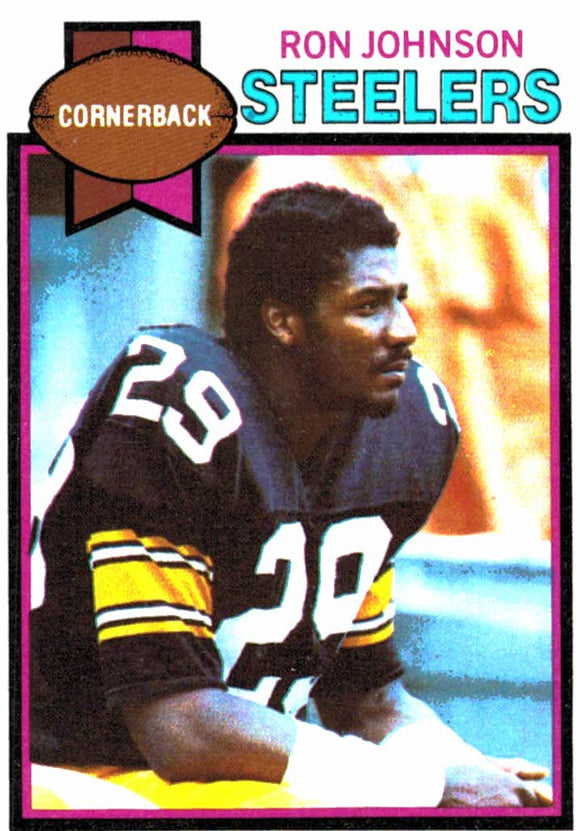 1979 Topps Ron Johnson Pittsburgh Steelers - JM Collectibles