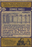 1979 Topps Donnie Shell Pittsburgh Steelers - JM Collectibles