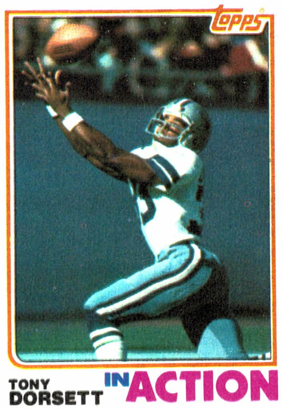 1982 Topps Tony Dorsett In Action Dallas Cowboys - JM Collectibles