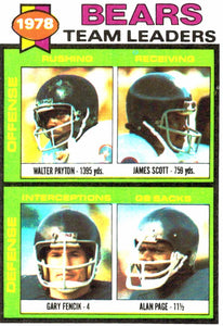 1979 Topps Chicago Bears Team Leaders Card - JM Collectibles