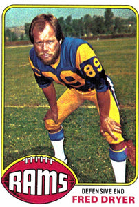 1976 Topps Fred Dryer Los Angeles Rams - JM Collectibles