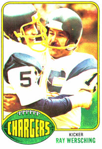 1976 Topps Ray Wersching San Diego Chargers - JM Collectibles