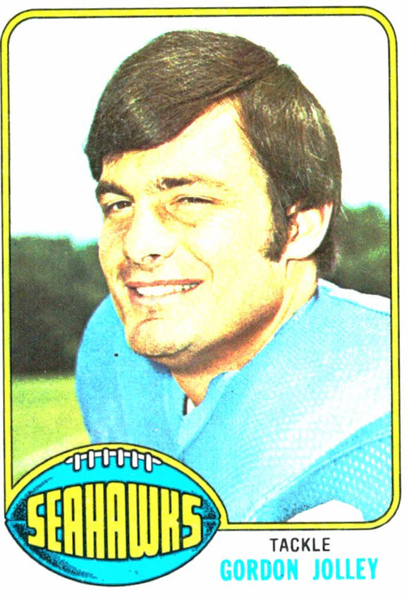 1976 Topps Gordon Jolley Seattle Seahawks - JM Collectibles
