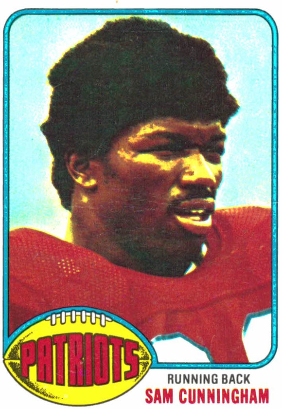 1976 Topps Sam Cunningham New England Patriots - JM Collectibles