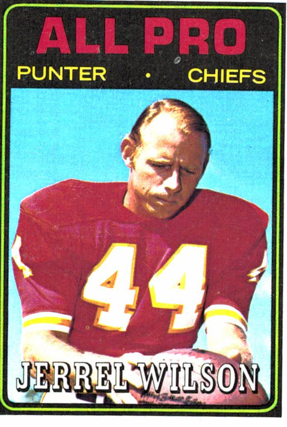 1974 Topps Jerrel Wilson All Pro Kansas City Chiefs - JM Collectibles