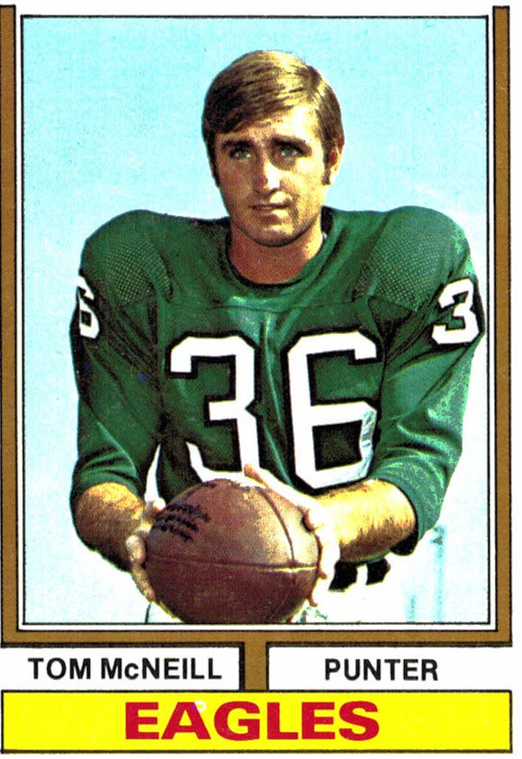 1974 Topps Tom McNeill Philadelphia Eagles - JM Collectibles