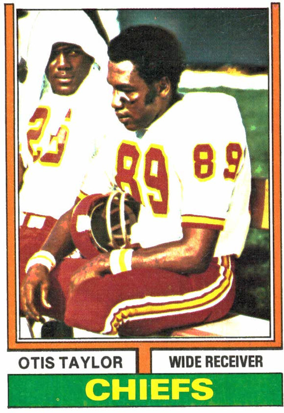 1974 Topps Otis Taylor Kansas City Chiefs - JM Collectibles