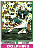 1974 Topps Garo Yepremian Miami Dolphins - JM Collectibles