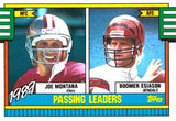 1989 Topps Joe Montana Boomer Esiason Passing Leaders Card 49ers Bengals - JM Collectibles