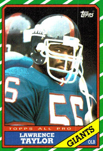 1986 Topps Lawrence Taylor New York Giants - JM Collectibles