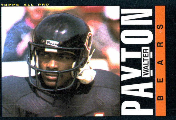 1985 Topps Walter Payton Chicago Bears - JM Collectibles