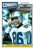 1987 Topps Mike Sherrard Super Rookie Card Dallas Cowboys - JM Collectibles