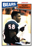 1987 Topps Wilbur Marshall Chicago Bears - JM Collectibles