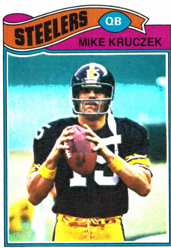 1977 Topps Mike Kruczek Pittsburgh Steelers - JM Collectibles