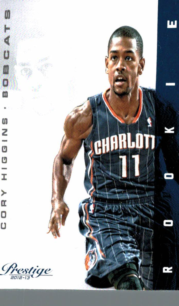 2012-13 Prestige Cory Higgins Rookie Card Charlotte Bobcats - JM Collectibles