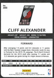 2015-16 Panini Complete Cliff Alexander Rookie Card Portland Trail Blazers - JM Collectibles