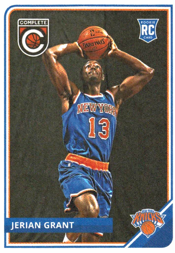 2015-16 Panini Complete Jerian Grant Rookie Card New York Knicks - JM Collectibles