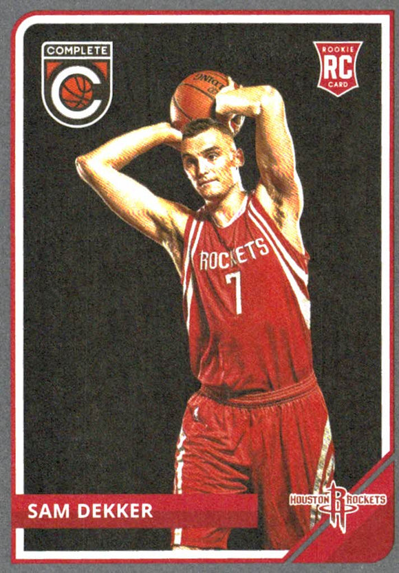 2015-16 Panini Complete Sam Dekker Rookie Card Silver Houston Rockets - JM Collectibles