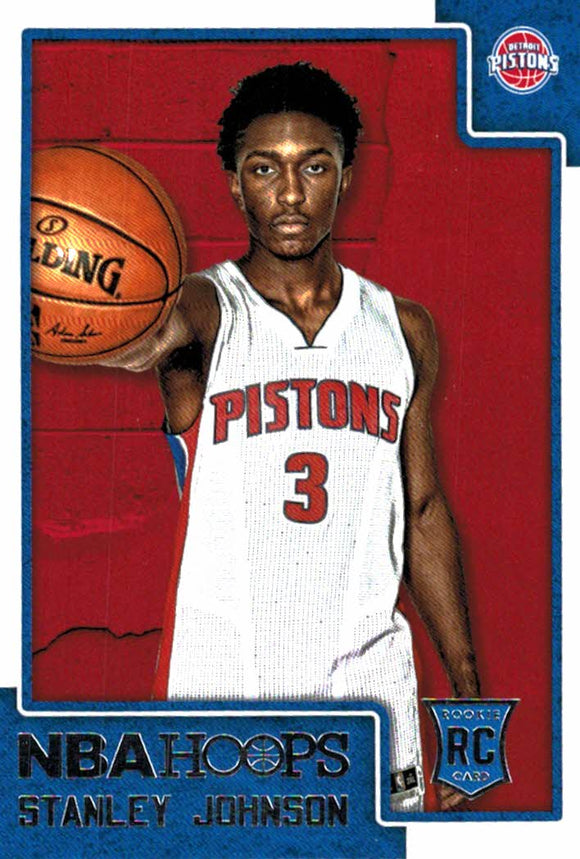 2015-16 NBA Hoops Stanley Johnson Rookie Card Detroit Pistons - JM Collectibles