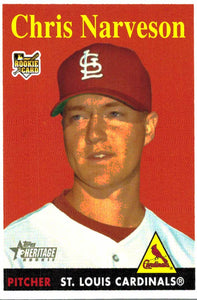 2007 Topps Heritage Chris Narveson Rookie Card St Louis Cardinals - JM Collectibles