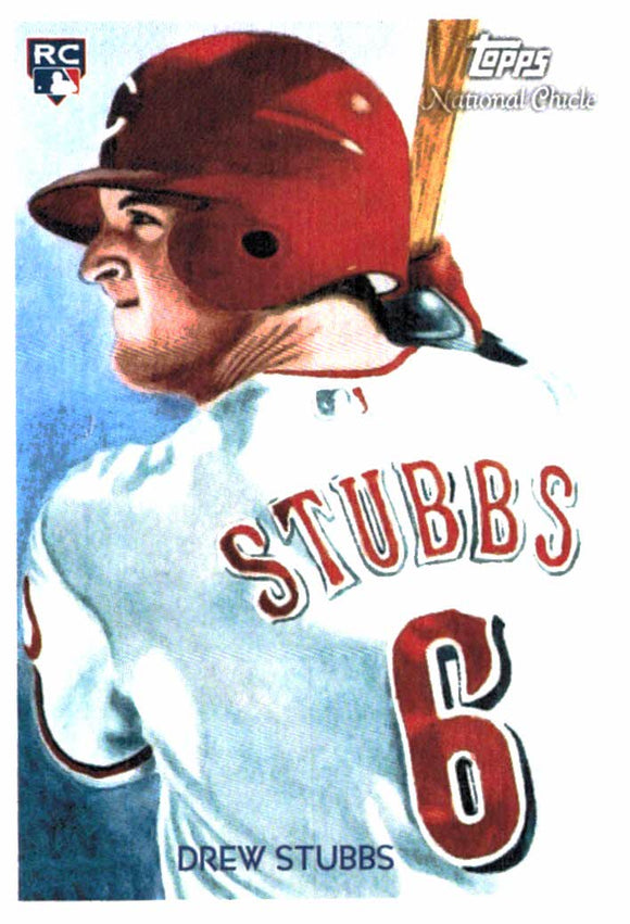 2010 Topps National Chicle Drew Stubbs Rookie Card Cincinnati Reds - JM Collectibles