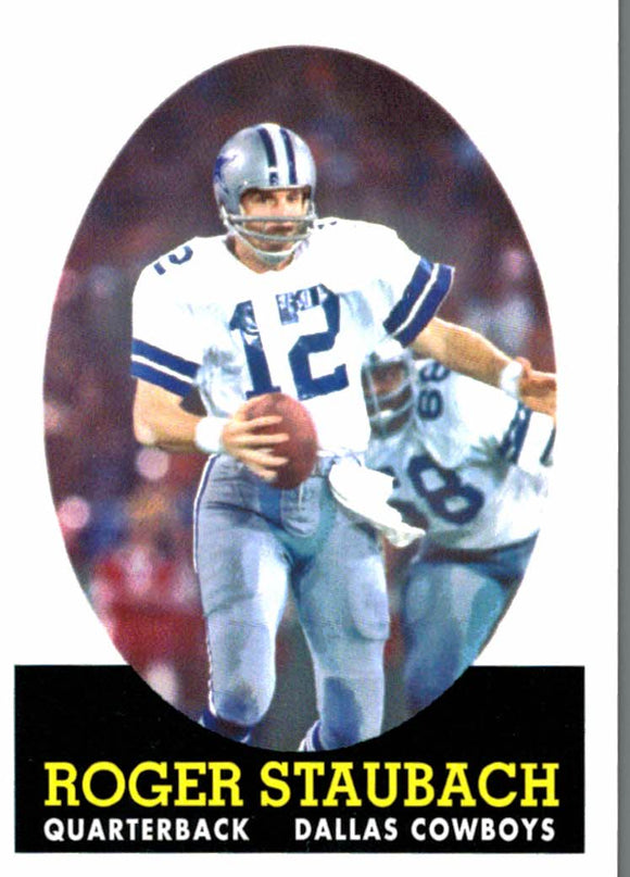 2007 Topps Roger Staubach Turn Back The Clock Rookie Dallas Cowboys - JM Collectibles