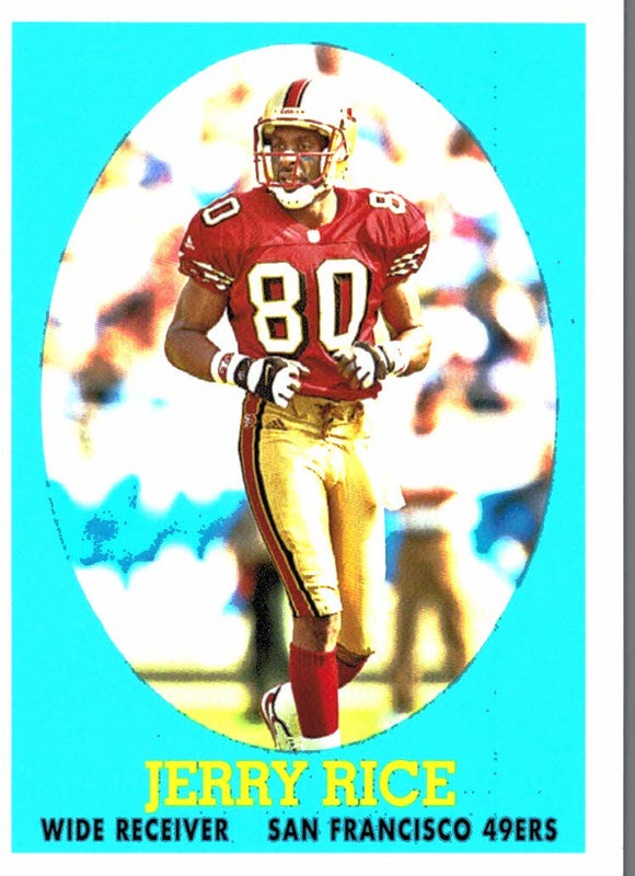 2007 Topps Jerry Rice Turn Back The Clock Rookie San Francisco 49ers - JM Collectibles