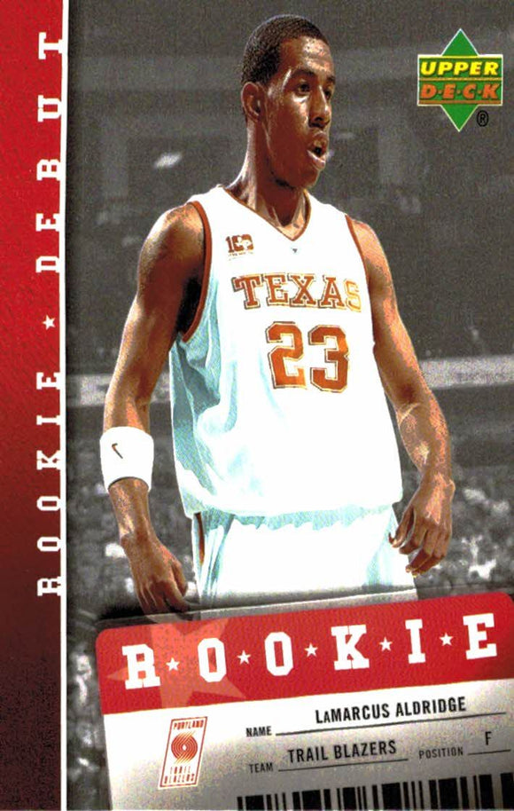 2006-07 Upper Deck Lamarcus Aldridge Rookie Debut Portland Trail Blazers - JM Collectibles