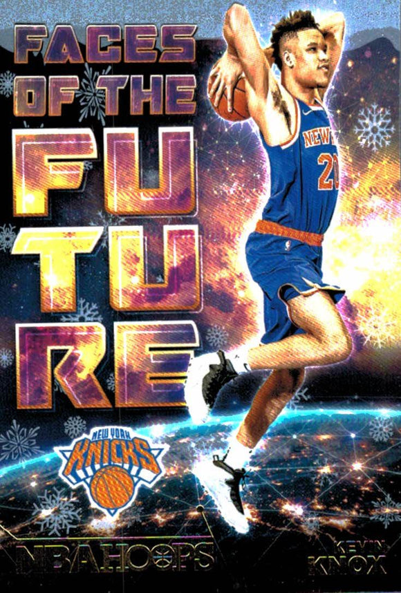 2018-19 Panini Hoops Winter Snowflake Faces Of The Future Kevin Knox New York Knicks