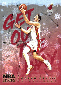 2018-19 Panini Hoops Winter Snowflake Get Out The Way Goran Dragic Miami Heat