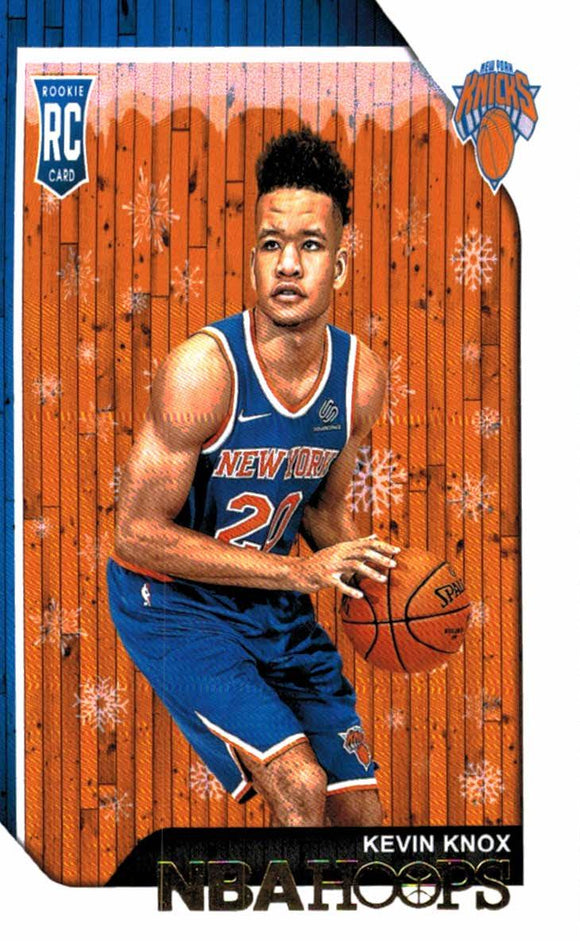 2018-19 Panini Hoops Winter Snowflake Kevin Knox Rookie Card New York Knicks
