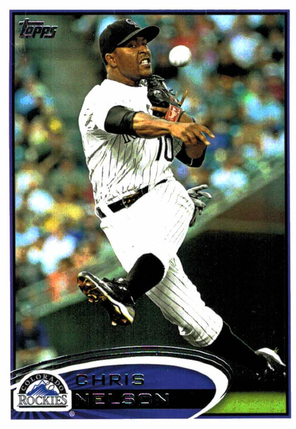 2012 Topps Update Chris Nelson Colorado Rockies