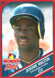 1990 Wonder Bread Stars Jerome Walton Chicago Cubs