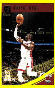 2018-19 Panini Donruss Yellow Flood Dwyane Wade Miami Heat