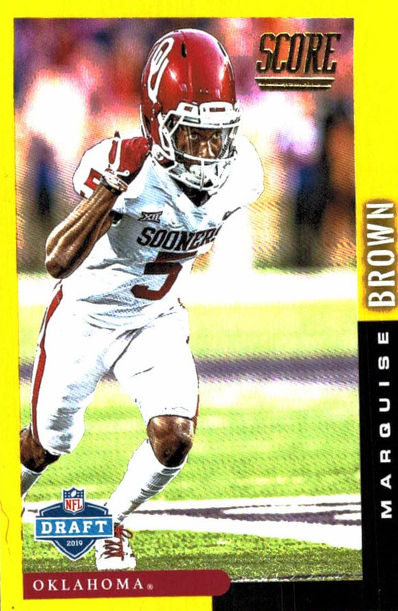 2019 Score NFL Draft Gold Marquise Brown Baltimore Ravens