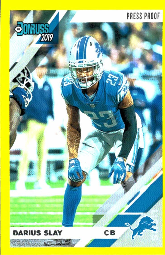 2019 Donruss Press Proof Yellow Darius Slay Detroit Lions